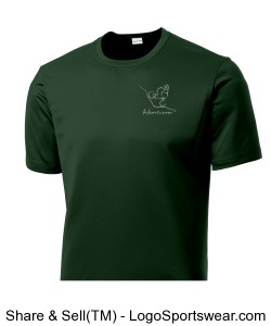 Mens Performance T Mountain Biker Forest Green Design Zoom
