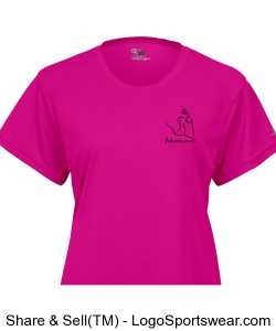 Womens Performance T Hiker Hot Pink Design Zoom