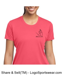 Womens Performance T Hiker Coral Design Zoom